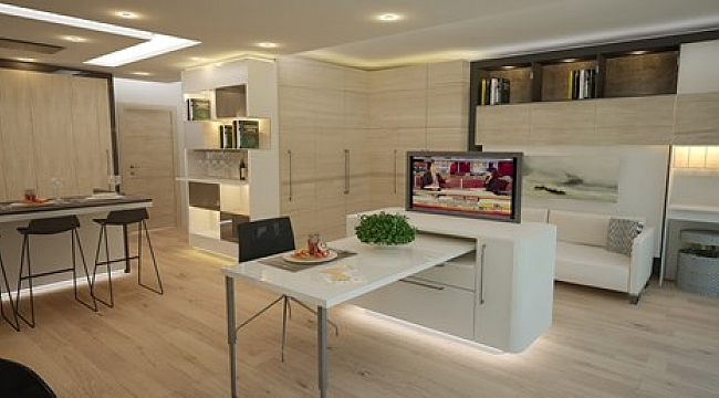 40 metrekarelik evi 74 metrekareye çıkartan sistem