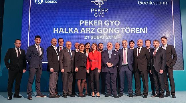 Borsa İstanbul'da Gong Peker GYO için çaldı