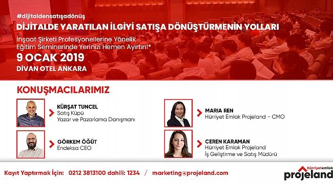 Ankara'da konut üreticilerine dijital pazarlama semineri